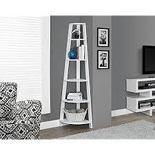 white corner bookcases amazon com