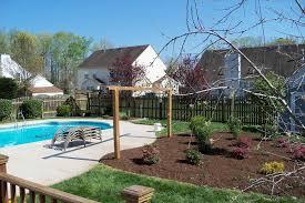 landscape design pool areas backyard fence ideas