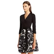 dvf wrap dress diane furstenberg dvf silk combo wrap dress in black lyst