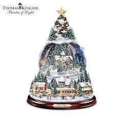 thomas kinkade lighted pictures thomas kinkade lighted musical christmas snowglobe tree first