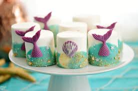 the sea party ideas the sea party ideas mermaid marshmallows finding zest