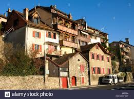 houses stone switzerland timber shutters residence wooden home