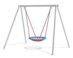 Double Swing Ecorino Double Swing With Nest Seat ø 100 Cm Eibe Playground