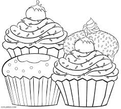 free printable cupcake coloring pages kids cool2bkids