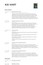 Mental Health Resume Examples by Medical Records Clerk Resume Samples Visualcv Resume Samples