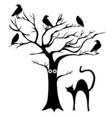 tree crows royalty free vector image vectorstock