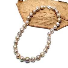 big pearls necklace images Pernnla pearl colored big nucleated pearls necklace with 925 jpg
