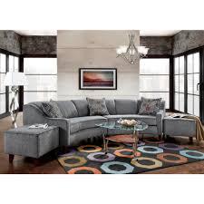 Sectional Sofa And Ottoman Set by Sofa Trendz Bindel Grey Curved Sectional Sofa With Ottoman Set