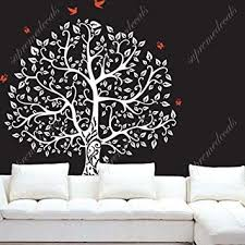 White Tree Wall Decal For Nursery Banyan Tree White Beautiful Tree Wall Decals For