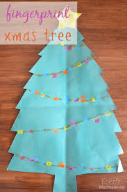 christmas kids craft fingerprint tree eclectic momsense