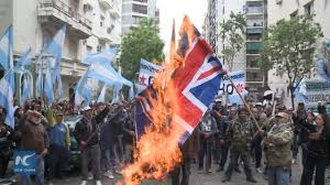 Burning A Flag Raw Argentine Protesters Burn Uk National Flag Against Its