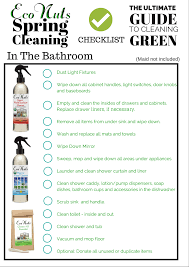cleaning bedroom checklist spring cleaning checklist from eco nuts bathroom cleaning sheet