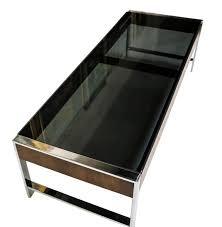smoked glass coffee tables uk coffee table mid century chrome smoked glass coffee table milo
