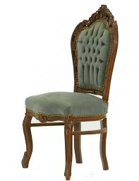 Esszimmerstuhl Federkern Antiker Stuhl Mit Braunem Massivholzrahmen Und Luxuriöser Grauer