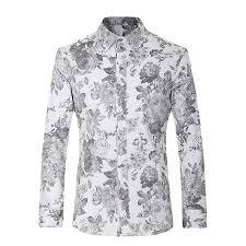 gorgeous designs men dress shirts casual slim euro size floral