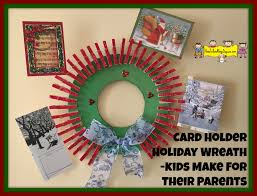 card holder holiday wreath kids make for their parents how to