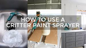 how to use a critter paint sprayer youtube