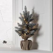 53cm pre lit battery operated mini frosted tree by