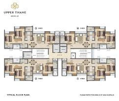 typical floor plan floor plans of 1 2 3 bed homes at upper thane by lodha group