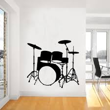 drums wall decal promotion shop for promotional drums wall decal 2015 fashion music vinyl wall decal drums wall art musical instrument mural wall sticker music room sticker home decoration