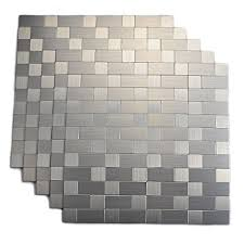 Amazoncom Peel And Stick Tile For Kitchen Stick On Tiles - Peel and stick kitchen backsplash tiles