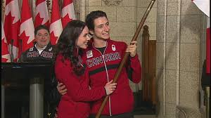 Canada Flag Bearer Tessa Virtue Scott Moir Named Canada U0027s Olympic Flag Bearers For