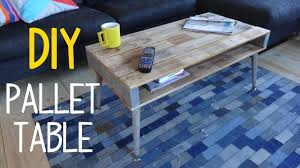 how to build a simple pallet wood table youtube