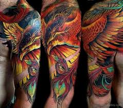 fantastic phoenix tattoo on half sleeve tattoo designs tattoo