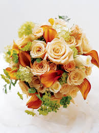 Peach Roses Sweet Peach Rose U0026 Calla Lily Bridal Bouquet