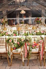 Bride And Groom Chair 30 Chair Decor Ideas With Florals For Spring Summer Weddings