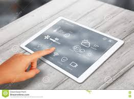 Home App Smart Home Control App Use On Tablet Stock Photo Image 71562941