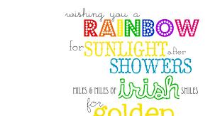 funky polkadot giraffe wishing you a rainbow an irish blessing