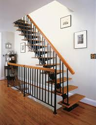 Banister Railing Kits 42 Floating Stair Kit With Optional Oak Treads R2 Spindles Oak