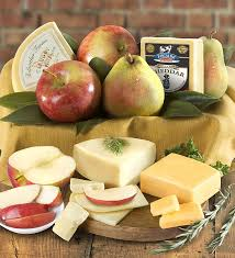 fruit and cheese gift baskets fresh fruit cheese gourmet gift box 1800baskets