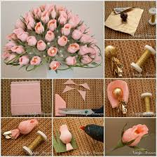 beautiful diy home decor diy beautiful chocolate and crepe paper flower bouquet image