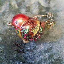 robin ornament glass ebay