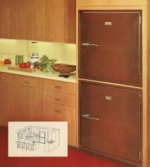 Built In Refrigerator Cabinets Revco Bilt In Refrigerators 17 Pages Of Designs From 1956