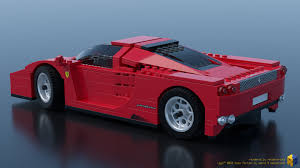 lego ferrari f40 artstation lego racers 8652 enzo ferrari 1 17 renderbricks
