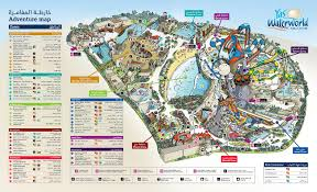 Map Of Abu Dhabi Yas Waterworld Or Wild Wadi U2013 Backpackerlee