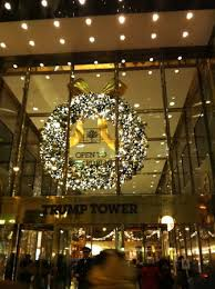 front entrance at christmas picture of trump tower bar and grill