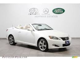 lexus convertible 2010 2010 lexus is 350c convertible in starfire white pearl 501047