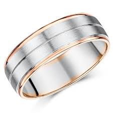 coloured titanium rings images Two color wedding rings choose from 9ct 18ct two tone gold jpg