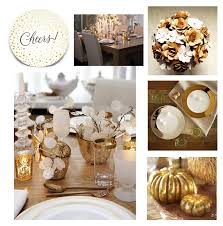 setting the table in gold and white a miusmie