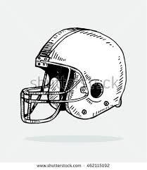 sketch helmet football stock vector 462115195 shutterstock
