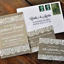 vintage lace wedding day invitation by feel good wedding