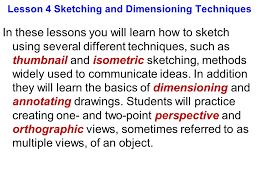 lesson 4 sketching and dimensioning techniques ppt download