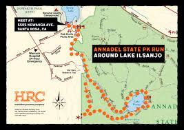Annadel State Park Map by Healdsburg Running Company Run Maps