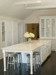kitchen island as table kitchen table integrated into island white cabinets stainless
