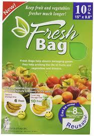 amazon com reusable green fresh bags 15