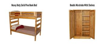 Solid Pine Bunk Beds Heavy Duty Solid Pine Bunk Bed And Wardrobe Commercial Supply